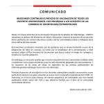 Comunicado 001 - ASPEFO